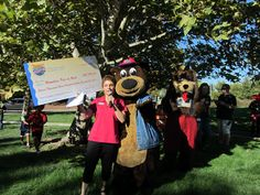 IncrediBear is bursting with happy gratitude as CEO of Placer SPCA and President of the State Humane Association of California, Leilani Fratis accepts the donation check on behalf of Placer SPCA and the 9 other non-profit organizations in John's Incredible Pizza Company communities throughout California and Oregon, and ALL the homeless pets who will benefit. BEST BIRTHDAY EVER!!!