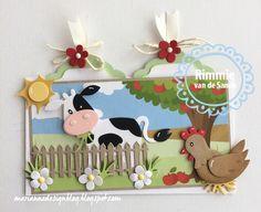 Cow Craft, Marianne Design Cards, Rena, Spellbinders Cards, Cricut Cards, Fancy Fold Cards, Animal Cards, Scrapbooking, Kids Cards