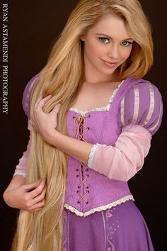 Real Life Rapunzel... Can I just say that I'm pretty sure this is what my little sister will grow up to look like?!