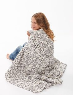 Learn how to Hand Crochet a Chunky Blanket in one Hour