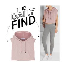 """The Daily Find: Adidas by Stella McCartney Cropped Hoodie"" by polyvore-editorial ❤ liked on Polyvore featuring moda, adidas y DailyFind"