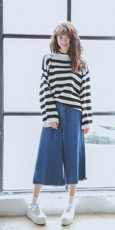awesome 韓風大熱「牛仔闊腳褲」!8款穿搭…學會輕鬆穿出時尚魅力 - BessUp - Girls 女生事