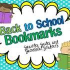 These bookmarks would be a perfect back to school gift for your students.  They come in a range of colors and options for your students.  Starting ...
