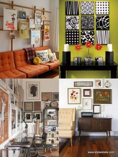 Cheap Wall Art Ideas for Home Decorating Living Room Wall? Inexpensive Wall Art, Cheap Wall Art, Simple Wall Art, Diy Wall Art, Wall Decor, Art Deco Home, Decor Styles, Living Room Decor, Sweet Home