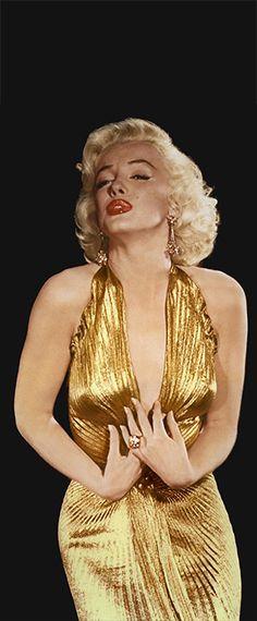 1953: Marilyn Monroe during filming of 'Gentlemen Prefer Blondes'