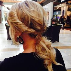 Blonde twist and tuck messy ponytail from angel_of_colour