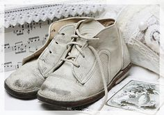 White - Vintage Baby Shoes