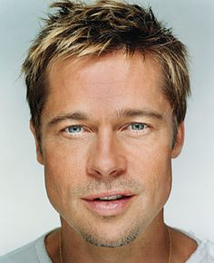 """Brad Pitt """"Up Close & Personal - Celebrity Photography"""" by Martin Schoeller Top Hairstyles For Men, Square Face Hairstyles, Haircuts For Men, Cabelo Do Brad Pitt, Brad Pitt Hair, Brad Pitt Images, Brad Pitt Pictures, Angelina Jolie, Jennifer Aniston"""