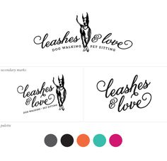 Leashes & Love logo design | Curious & Co. Creative with illustration by Erin Ellis
