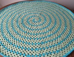 "Crochet with a single strand of cotton yarn and stop at 6-7"" diameter=dishcloth.  Crochet with any afghan yarn and go to 48-60"" diameter= cozy blanket  Crochet with several strands of yarn or rope and huge hook=throw rug."