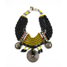 Elspeth/Sweetlime - Aztec Queen Necklace - Naga beads, Miao silver elements