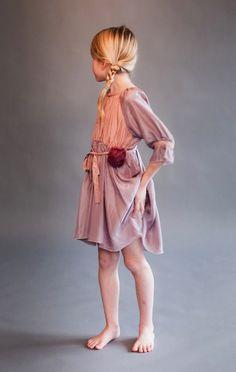From Italian brand Caporea summer 2010, easy to wear softly gathered dress   #kidsfashion #children's fashion