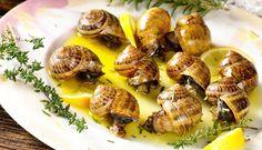 Escargots a l' Arta with lemon and wine sauce