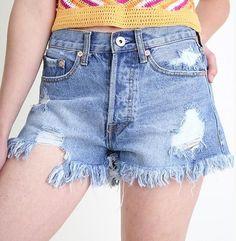 #Denim Awesomeness is here! Great Summer #Shorts ! #Highwaistshorts #highwaisted