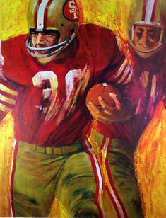 Football Art, Vintage Football, Sports Art, Sports Posters, Sports Logos, 49ers Players, Sports Drawings, Sports Graphics, Drawing Artist