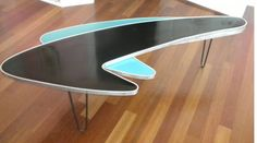 1950's Atomic Ranch House: 1950's Boomerang Table