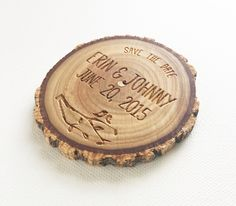 Engraved Wood Magnet cut from recycled trees! Fort Collins, Save The Date Cards, Rustic Wood, Dates, Magnets, Recycling, Wedding, Wood, Valentines Day Weddings