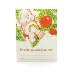 For your best Christmas ever Care Bears Cheer Bear gift tag