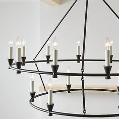 Keystone Two Tier Chandelier by Chapman and Myers at Lumens.com Minimalist Beauty, All Of The Lights, Wagon Wheel, Hudson Valley Lighting, Visual Comfort, Open Floor, Candelabra, Chandelier Lighting, Geometric Shapes