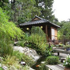 Japanese tea house retreat