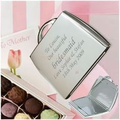 Engraved Compact Mirror  from Personalised Gifts Shop - ONLY £15.95