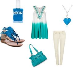 blue summer, created by mckenzie-janke on Polyvore
