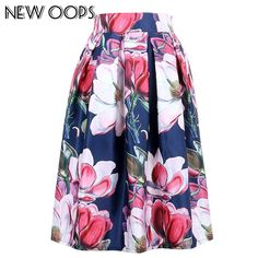 OOPS Ladies A line Skirts 2018 New Fashion Summer Clothes Vintage Floral Print Ball Gown Pleated Midi Skater Skirts Skirt Fashion, New Fashion, Midi Skater Skirt, Midi Skirts, Umbrella Skirt, Color Style, Vintage Summer Dresses, Ball Gown Dresses, Prom Dresses