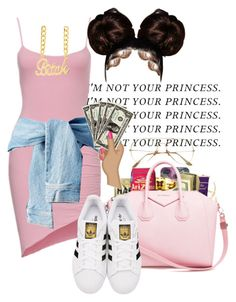 """Not your princess"" by a-kisses ❤ liked on Polyvore featuring adidas Originals"