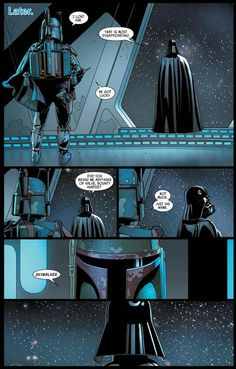 So this is now the official version of how Darth Vader learned that Luke Skywalker is his son, the information inadvertently came from Boba Fett. Star Wars Concept Art, Star Wars Fan Art, Star Trek, Star Wars Comics, Star Wars Humor, Star Wars Brasil, Pixar, Star Wars Facts, Lord