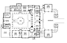 Italian Villa Floor Plans - Did you know that Italian Villa Floor Plans is one of the hottest topics in this category? That's the reason we are presen. Pallet House Plans, House Floor Plans, Villa Plan, Basketball Floor, Courtyard House Plans, European House Plans, Mediterranean Design, Italian Villa, Foyer Decorating