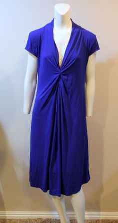 OLIAN-Large-Blue-Cap-Sleeve-Maternity-Dress