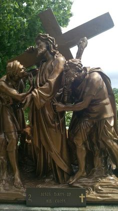 Jesus picks up his cross, Stations of the Cross, Martyr's Shrine, Midland, Ontario; The only pilgrimage place in Canada. Midland Ontario, Family Destinations, Future Travel, Pilgrimage, Crosses, Catholic, Beautiful Places, Religion, Canada