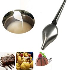 Stainless Steel Cake Decoration Filter Chocolate Spoon Baking Pastry Tools Accessories Supplies Gear Stuff Product #Affiliate