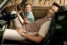 Robert Downey Jnr & son