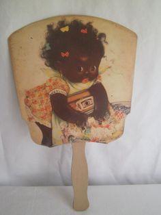 "Vintage Black Americana Advertising Selma Alabama ""Mammy's Pride"" Fan"