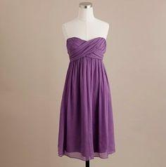 simple bridesmaids dress wisteria