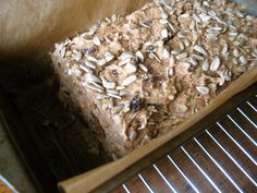 sprouted bread in pan
