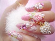 Nails: decoden nails - SparkRebel  Yes they are tacky where i come from, however I love them :-) x