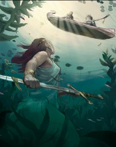 Arthur and the Lady of the Lake in progress — Chad Lewis Illustration Story Inspiration, Painting Inspiration, Illustrations, Illustration Art, Roi Arthur, King Arthur, Character Art, Character Design, Fanart