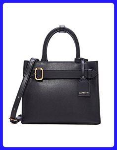 LA'FESTIN Women Tote Purse Fashion Leather Black Shoulder Bags Top-Handle Handbag - Shoulder bags (*Amazon Partner-Link)