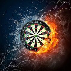 Find Darts Board Fire Water Isolated On stock images in HD and millions of other royalty-free stock photos, illustrations and vectors in the Shutterstock collection. Thousands of new, high-quality pictures added every day. Original Wallpaper, Hd Wallpaper, Best Electronic Dart Board, Club Sportif, Dart Shirts, Target, Pool Cues, Billiard Room, Creative Pictures