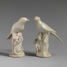 Pair of birds, ca.1750–55; British, Staffordshire
