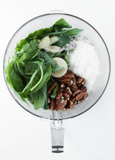Two things I never get sick of: pecans and basil. Together. | Pecan Basil Pesto | thekitchenpaper.com