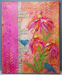"""teresa jaye is here to play!: """"Forever"""" Mixed Media canvas"""