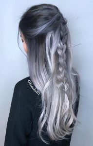 Are you looking for blonde balayage hair color For Fall and Summer? See our collection full of blonde balayage hair color For Fall and Summer and get inspired! Ombre Hair Color, Hair Color Balayage, Cool Hair Color, Blonde Balayage, Grey Ombre, Grey Blonde, Silver Blonde, Haircolor, Blonde Ombre