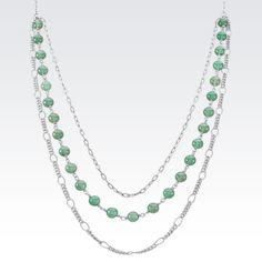 Fun and flirty necklace featuring green aventurine beads. #ShaneCo #ShaneCoChic