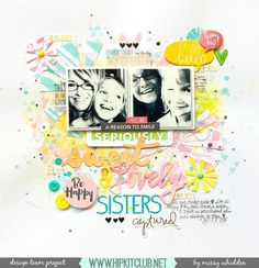 Hip Kit Club DT Project - 2016 June Hip Kits - exclusives designed by Kim Watson; Heidi Swapp, Jillibean Soup, Simple Stories, Shimmerz Paints, Dear Lizzy American Crafts, Pink Paislee, Becky Higgins