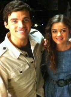 Lucy Hale and Ian Harding ♥   shes one of my fav young actresses .......and he is.....well....I would've had a hot steamy romance with my English teacher if it was him too!