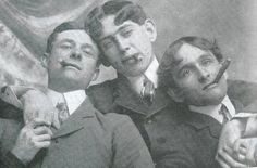 Three young men with cigars, c. late 19th C.