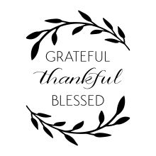 grateful thankful blessed vinyl home decal